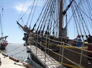 Boarding the Lady Washington