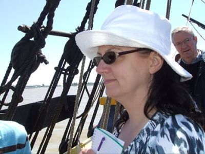 A dream come true -- aboard a sailing ship, researching one of my books! READ MORE: http://bit.ly/2e3FMq0